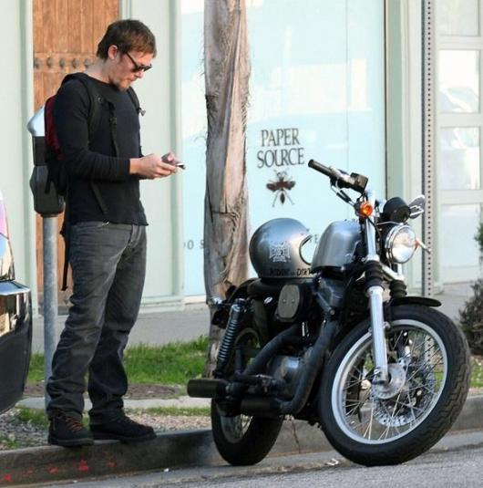 Norman Reedus and his Harley-Davidson Sportser