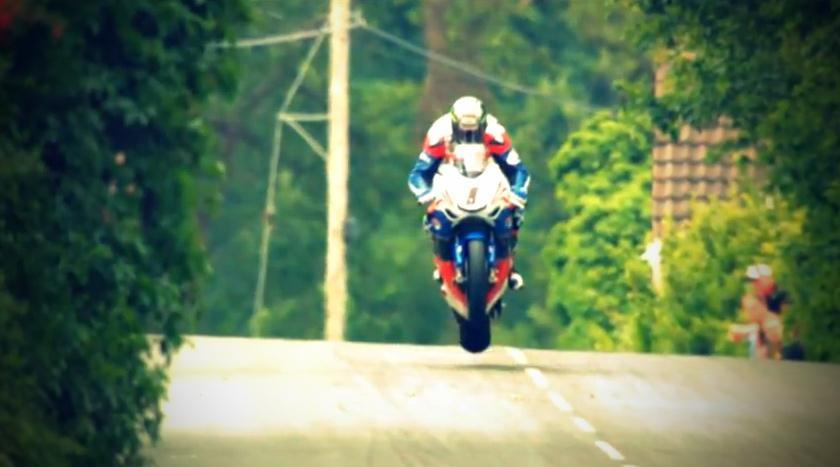 Cresting a hill and holding the bike straight like only Mcguinness can - IOMTT