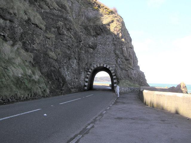 Blackcave tunnel antrim coast, Larne, Ireland