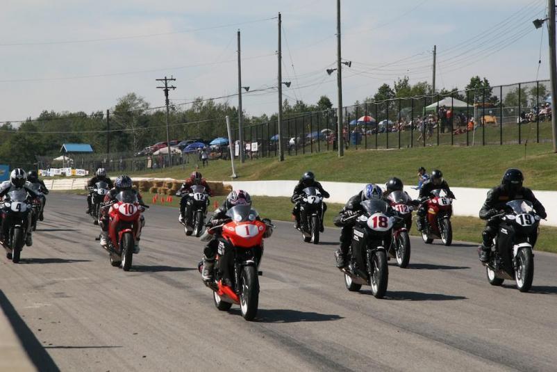 CBR250R Race #10 Restart Grid CSBK