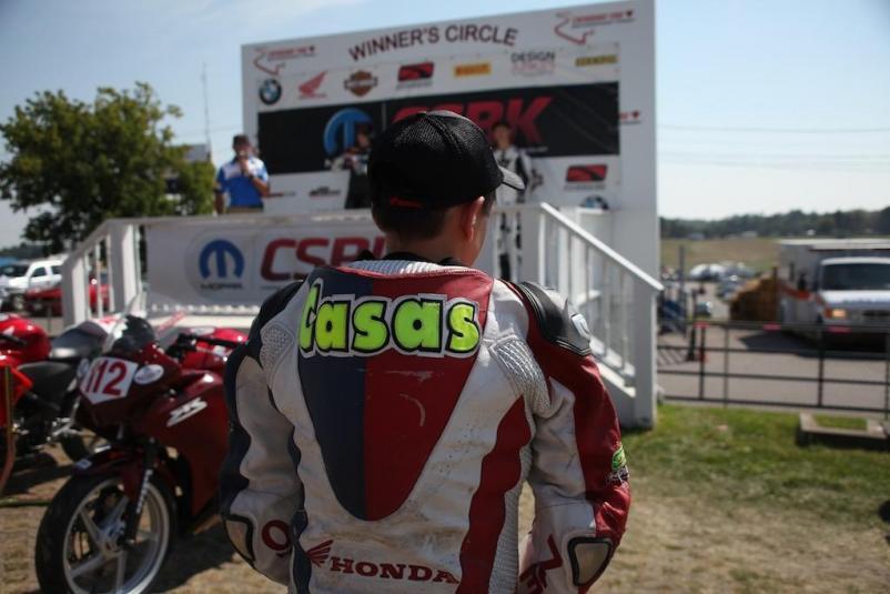 Casas wins Race #10 CBR250 CSBK