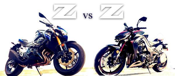 Z vs. Z: The Kawasaki Z800 goes back to back with the Z1000