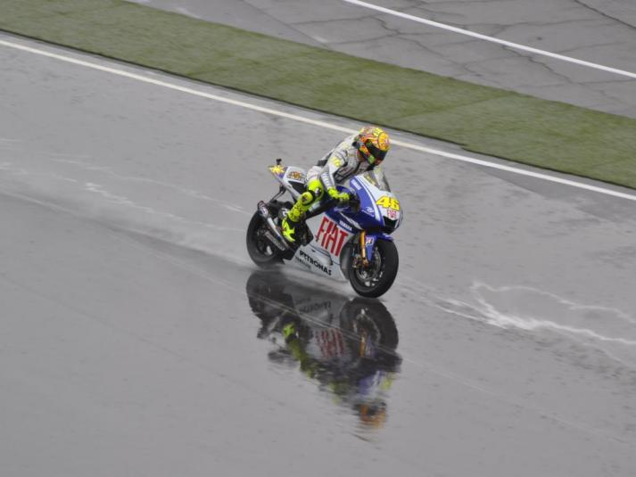 Rossi in the rain - a glorious sight
