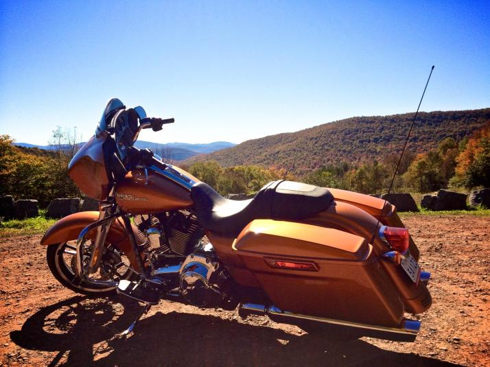FLHX Street Glide 2014 in the Catskills, NY