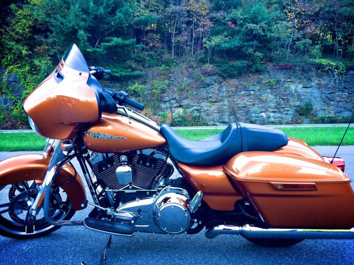2014 FLHX Street Glide, Amber Whiskey color