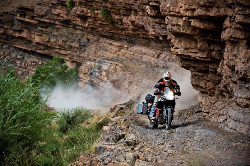 2013 KTM 1190 Adventure R in action 3