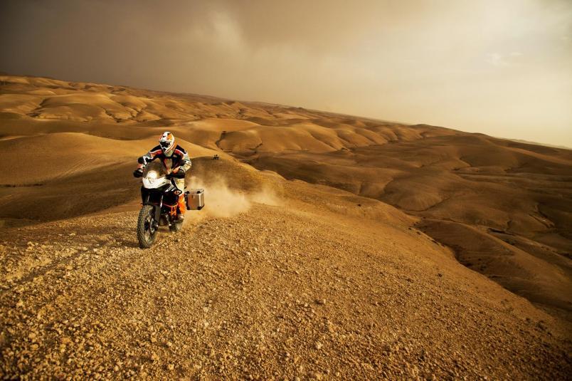 2013 KTM 1190 Adventure R in action 5