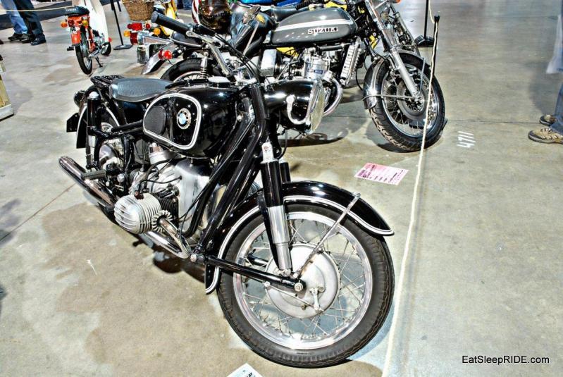 A retro BMW motorcycle
