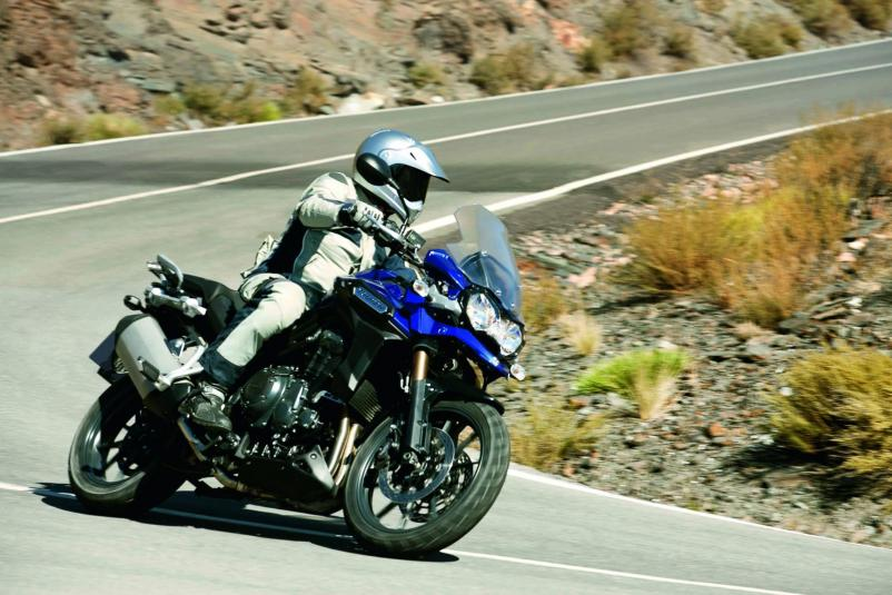 2013 Triumph Explorer - in action - road