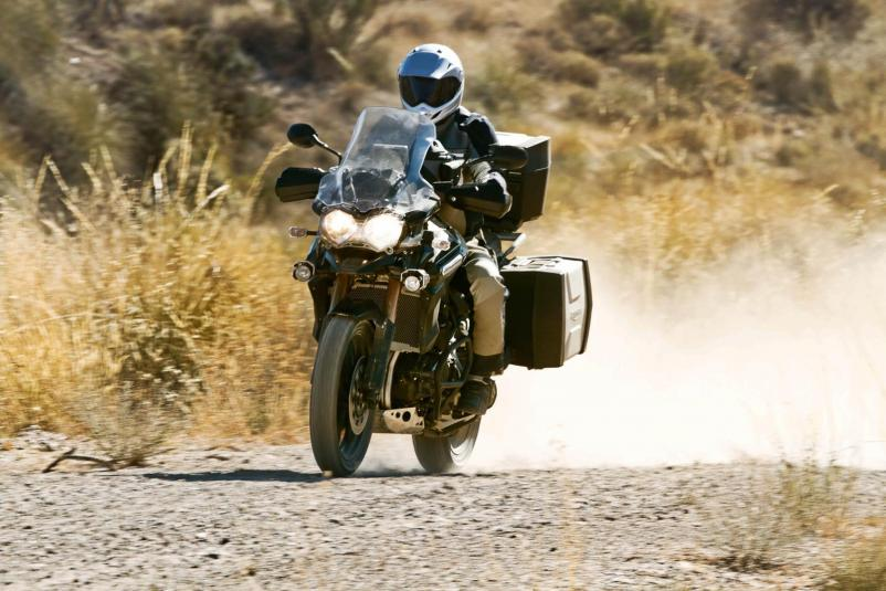 2013 Triumph Explorer - in action - dirt