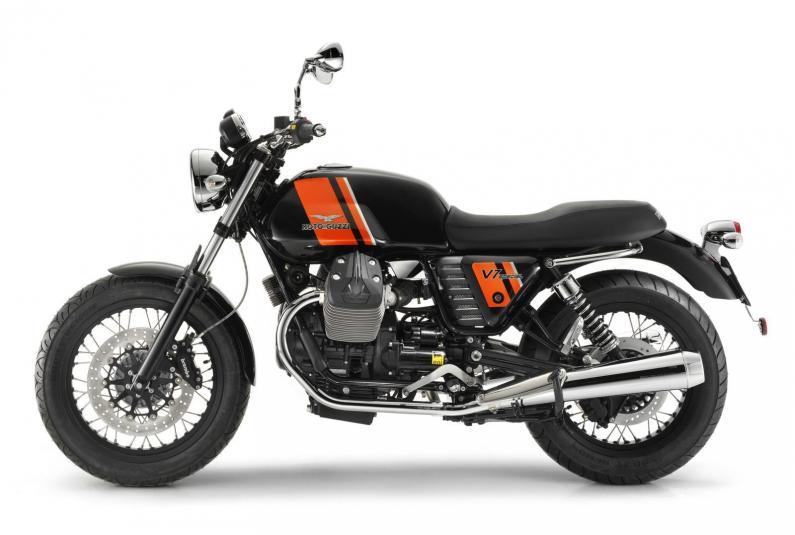 2013 Moto Guzzi V7 Special - left side view