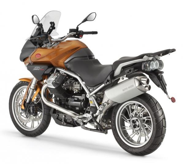 2013 Moto Guzzi Stelvio - rear left quarter view