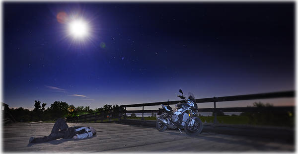 S1000 XR Snoozing in the Moonlight