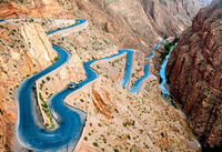 The R704 in Gorges du Dadès, Morocco looks like a pretty fun road to ride, just don't make any mistakes